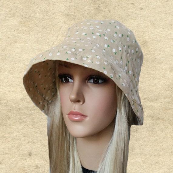 womens cotton hats cloche sun hats s fabric hats