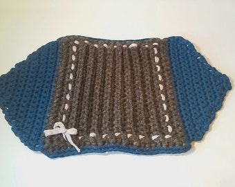 Crochet doily runner webbing table mat