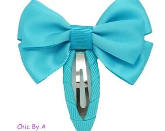 """Purple, Pink, Blue, Navy Blue, Set of 4, 2 """",Fashion Satin Ribbon , Baby Hairclip,Newborn Headban, Pastel Hairclip, Hairpin, Hair Clip"""