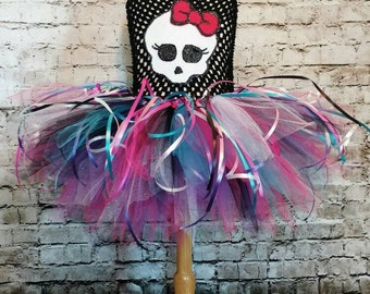 personalized First birthday tutu,first birthday tutu dress,monster high tutu dress,monster high birthday tutu,girls monster high tutu dress