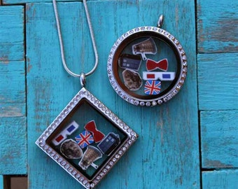 Floating Doctor Who Necklace