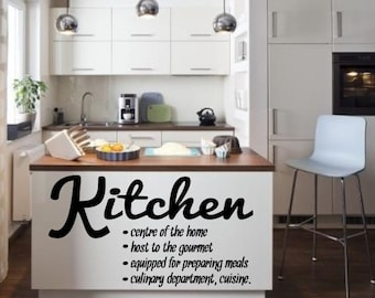 Kitchen Rules love Inspirational  vinyl wall decor decoration Sticker family words  decal sticker cheap kitchen decorative Removable