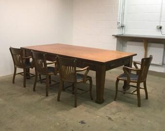 Tiger Oak Boardroom/Dining Table