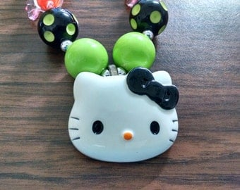 Halloween Hello Kitty Toddler Bubblegum Necklace