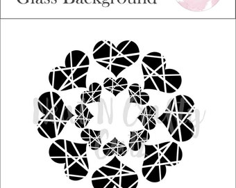 broken hearts of glass background cut file. For scrapbooking and paper crafting