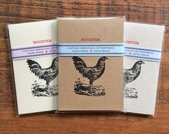 Rooster - Vintage Letterpress Note Pad