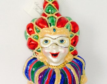 Vintage Christopher Radko Ornament Merry Masquerade