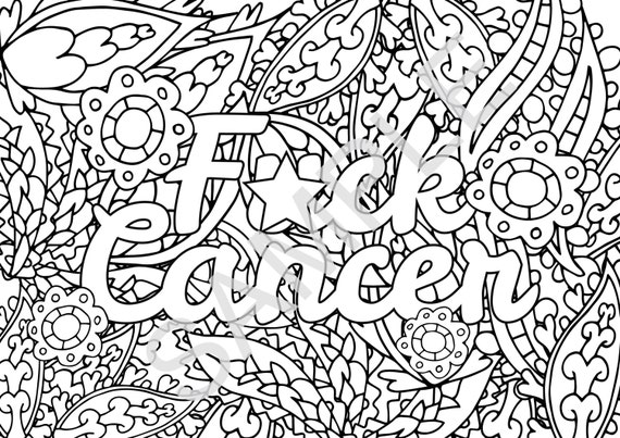 grown up coloring pages inspirational | INSTANT DOWNLOAD Printable sweary coloring page for adults ...