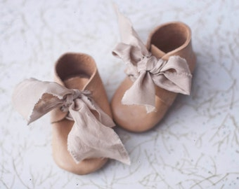 handmade leather baby boots