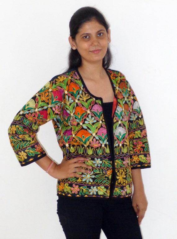 Bohemian kutchi style jacket cotton readymade by