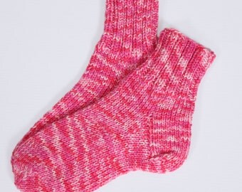 Handmade wool socks, size EU 38-39, US 7.5-8.5, UK 5-6