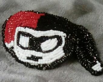 Beaded Harley Quinn Pin