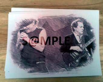 ACDC Digital Download Wall Art Sketch x 4