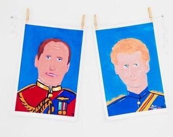 Prince Harry Cotton Tea Towel, Prince Henry of Wales, Royal Family UK