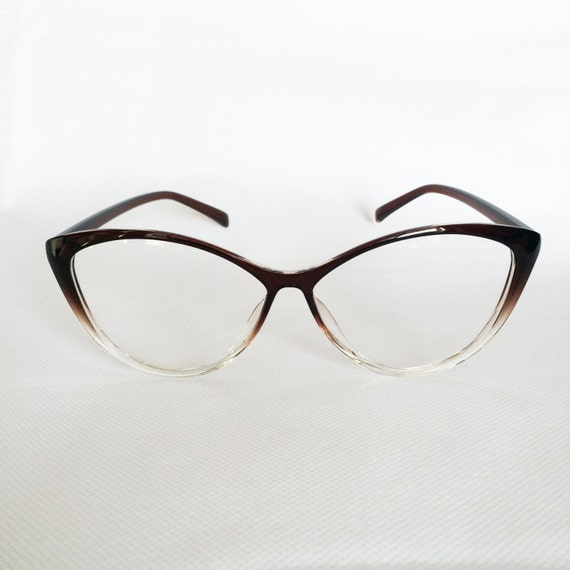 Popular Ladies Eyeglass Frames : High Quality Womens Eye Glasses Frames 50s Trendy Brown