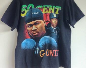 Vintage 50 Cent G Unit Rap T Shirt RARE