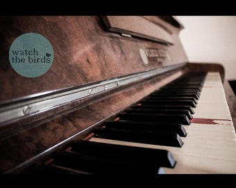 On that note - Antique, piano, photograph, art, wall decor, music, keyboard, print, 4x6