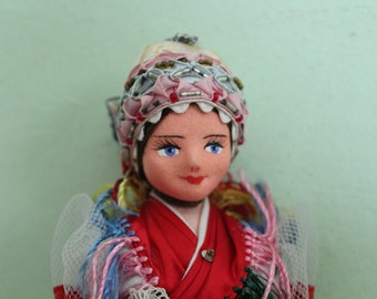 National Costume Doll, Hungary Traditional Costume Doll, Folklore Doll, Ethnic Doll, Collectible, Home Decor