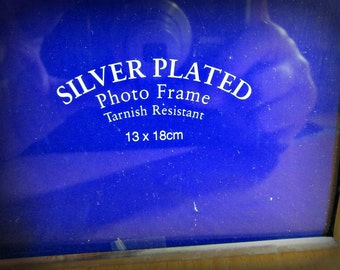 Vintage Picture Frame, Double, Silver Plated, Home decor, Wall Decor