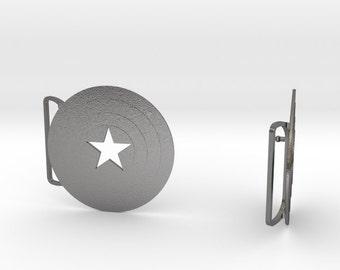 Captain America Belt Buckle | 3D Printed Steel Belt Clasps
