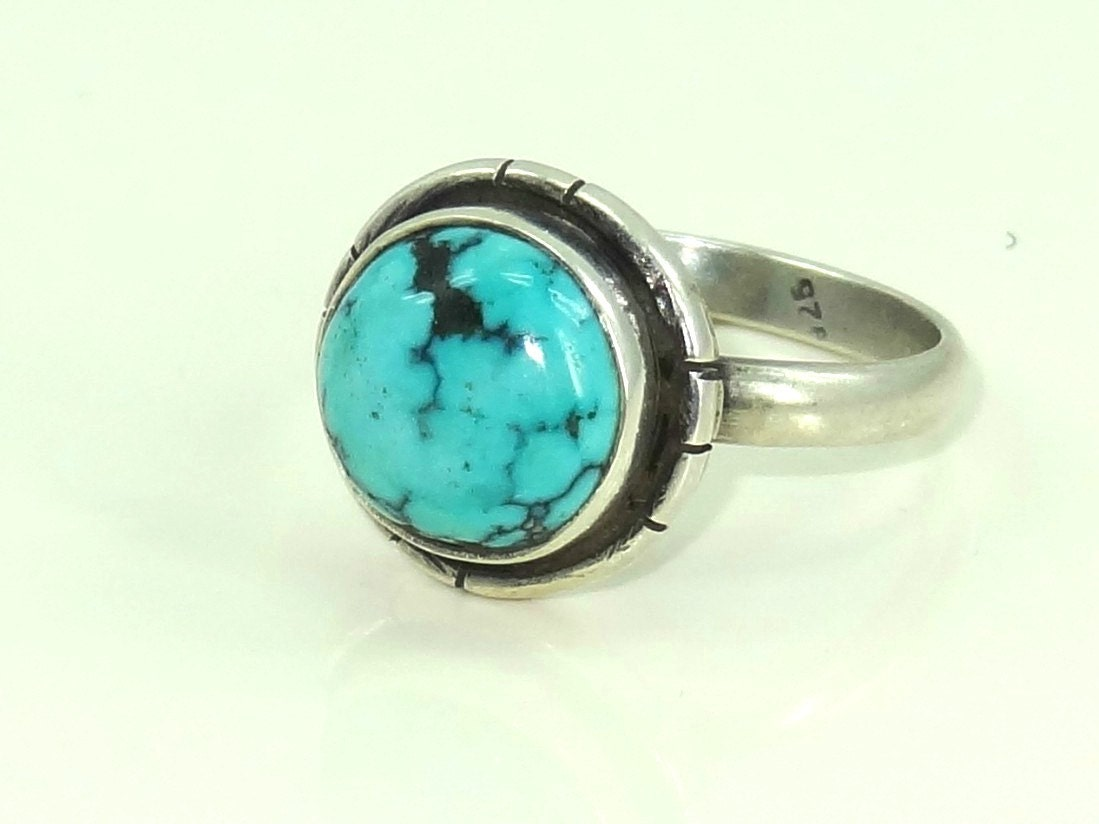 turquoise ring silver ring silver turquoise ring 92 5 solid