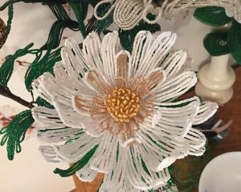 French Beaded  Flower  Chrysanthemum