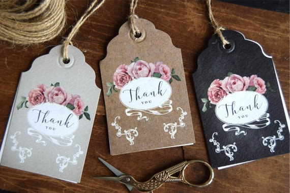 Personalised Bridesmaid Thank You Tags and Bridal Party