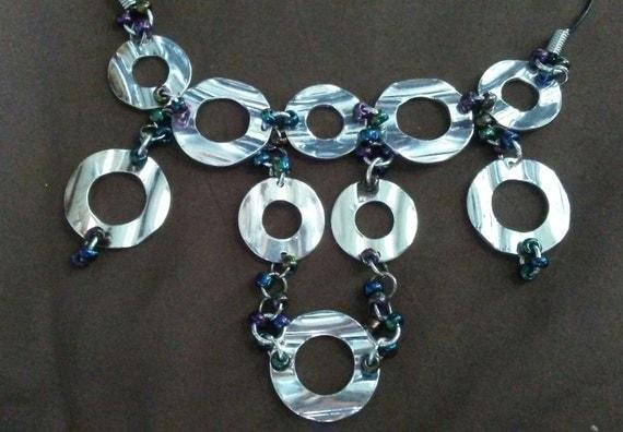 Beaded Chain Bib Necklace