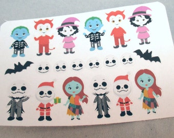 Nightmare Before Christmas Character Stickers