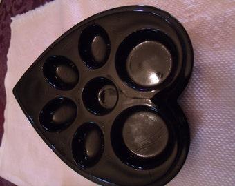 Porcelain Heart shape Soap Mold, (# b5)