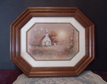 Vintage Home Decor Picture, Old Country Church, (# 668/29)