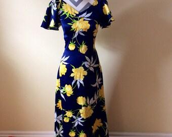Vintage Pomare dress/ Hawaiin dress