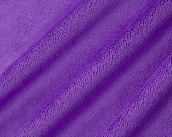 SALE Purple Minky Cuddle 3 - Shannon Fabrics - Smooth Minky