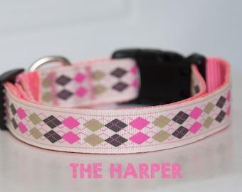 Prepster Inspired Adjustable Dog Collar The Harper