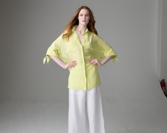 Lemon Zest - easy silk crepe de chine tunic