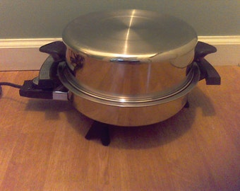 Electric Frying Pan Stainless Steel , Liquid  Oil Core cookware,  Made in the USA, West Bend,