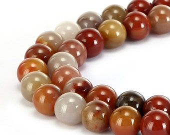 Nice Smooth Colorful Jade Gemstone Round Loose Beads 6mm/8mm/10mm  Approximate 15.5 Inches per Strand.R-S-JAD-0165