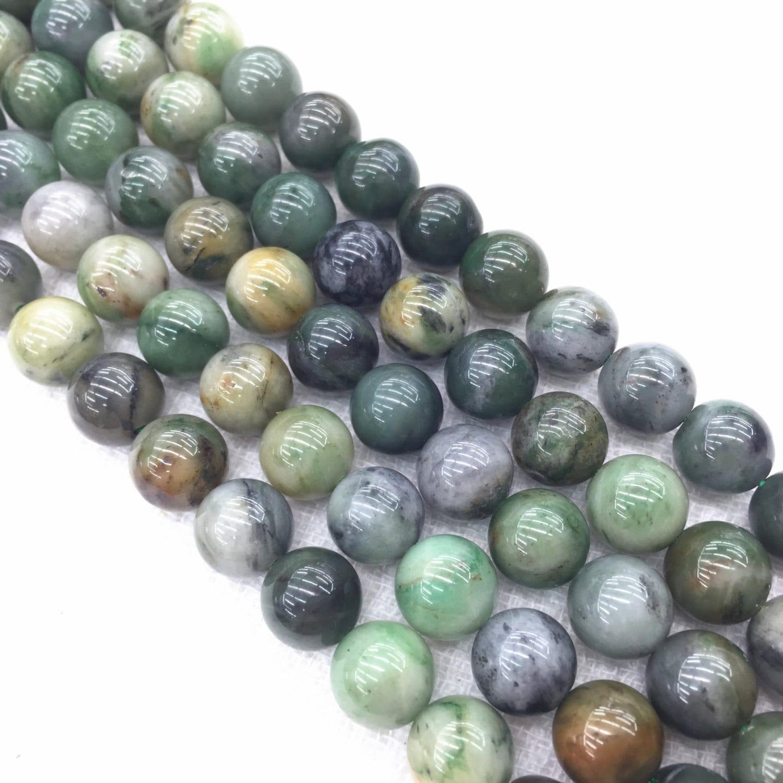 Genuine Jade Beads: Genuine Natural Polar Round Jade Loose Beads 15.5