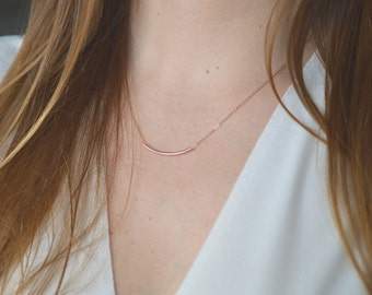 Tube and fine chain gold filled necklace * 14 k