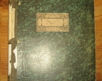 Beautiful Antique 19th Century Printed French Cotton Swatch Book 901