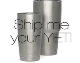 Custom Powder Coated Yeti cups.