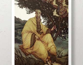 The Almond Tree Illustrated Art Print