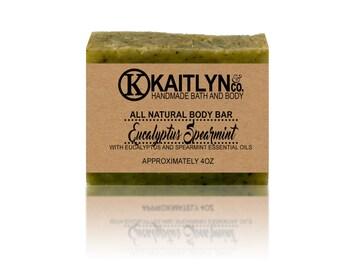 Eucalyptus Spearmint Soap, All Natural, Handmade, Vegan