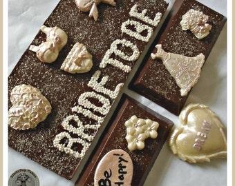 Bridal Chocolate Gift/Bridal Shower Gift/Bride to Be/Wedding Chocolate/Novelty Bride Gift/Engagement/Female Chocolate/Edible/Friend Wedding