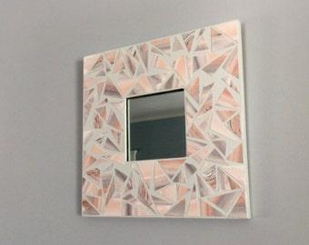Watercolor Mosaic Mirror