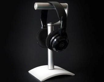 Modular Headphone Stand. Headphone Holder. Desktop, Under Desk, Wall Mounted, Desk Mounted. Headset Modern Corian Aluminum Curved Corian