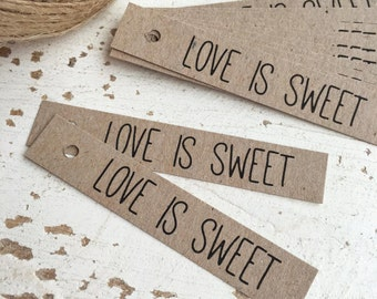 Rustic 'Love is Sweet' Tags Pk20