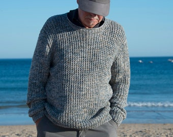 hand knitted mens sweater