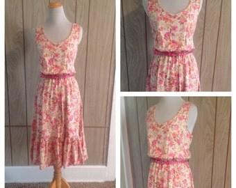 Vintage 70's floral dress - m/large