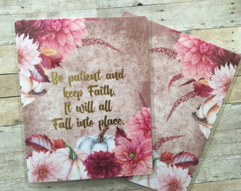 Autum/Fall Planner Cover/Flowers/Faith/Happy Planner/ Personal